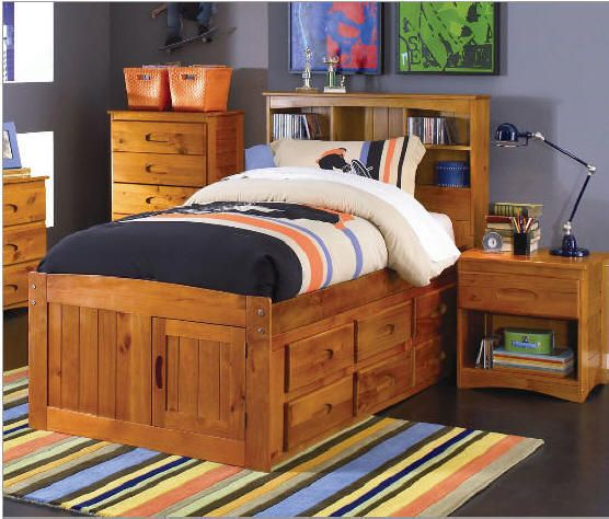 Stoney Creek Twin Size Bookcase Captain S Bed