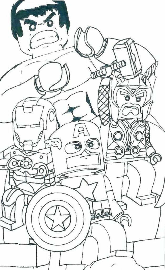 Download Marvel Logo Coloring Page in 2020 | Lego coloring pages, Avengers coloring, Marvel coloring