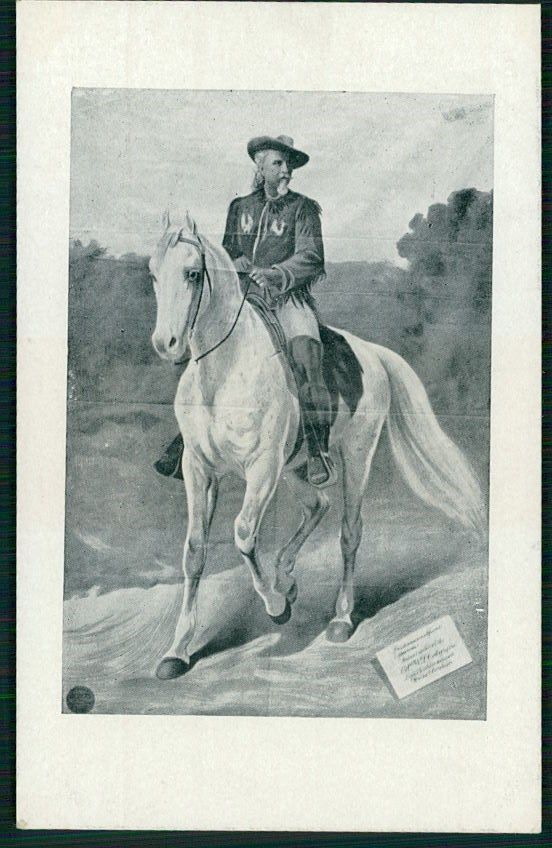 Circus BUFFALO BILL Wild West old 1910 poster postcard