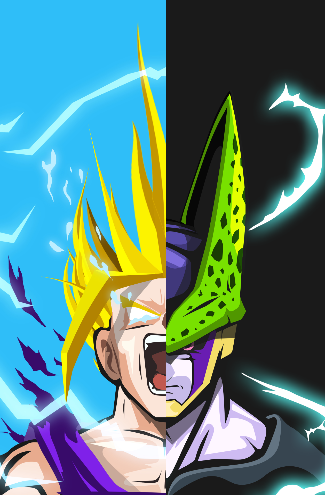 Goku Android Background Dragon ball wallpaper iphone
