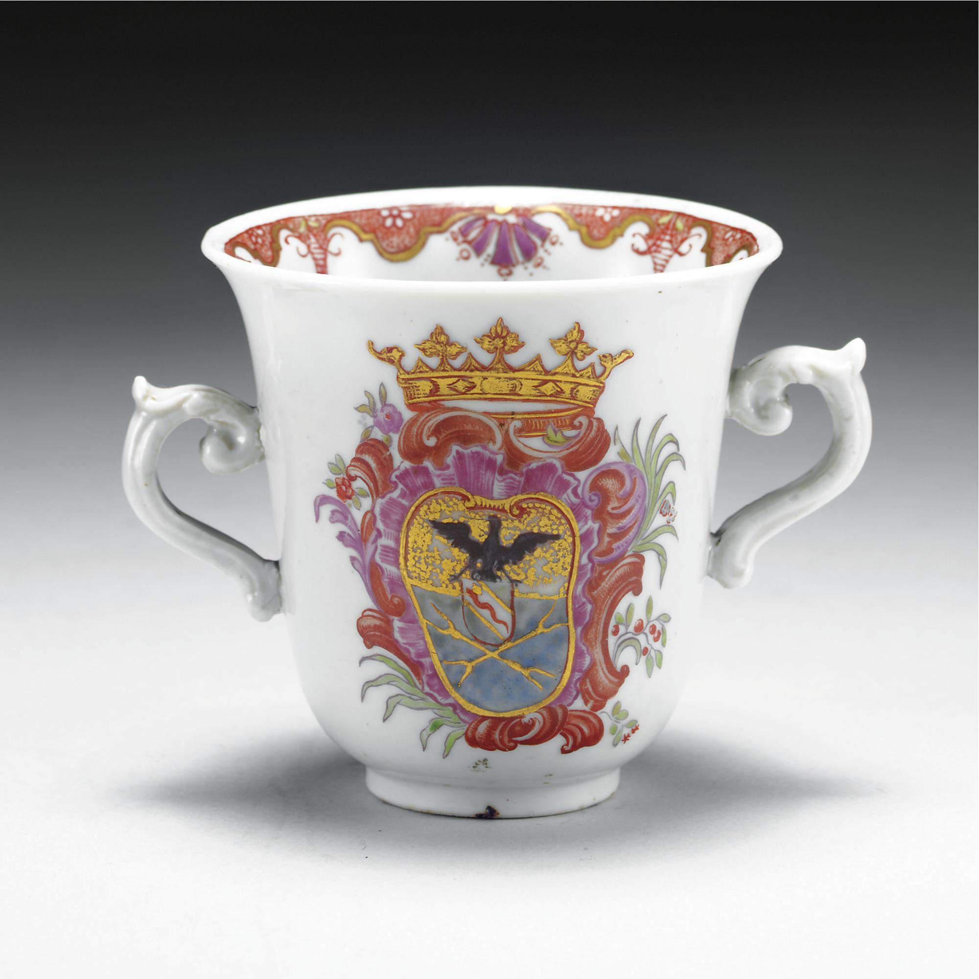 A Doccia Porcelain Armorial Cup Circa 1750