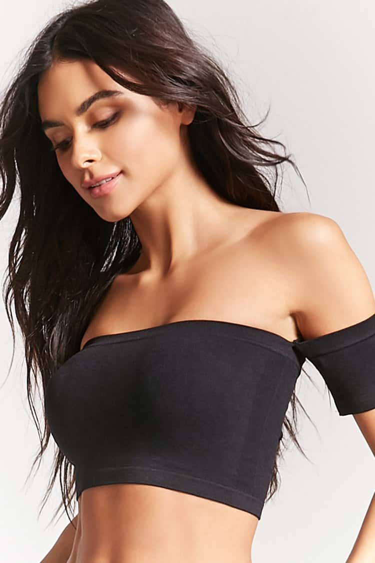 633e53b4f2f77a Seamless Off-the-Shoulder Bralette
