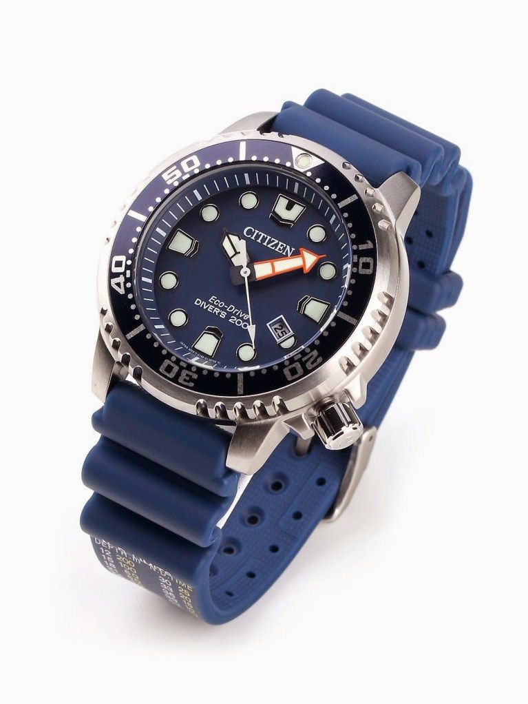 cc197471be1aa Citizen bn0151-09l - Men s eco-drive promaster diver watch with date. Round  watch featuring unidirectional bezel and blue dial with date window at 4  o clock ...