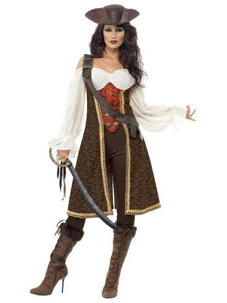 CARIBBEAN PIRATE WENCH FANCY DRESS COSTUME 12-14