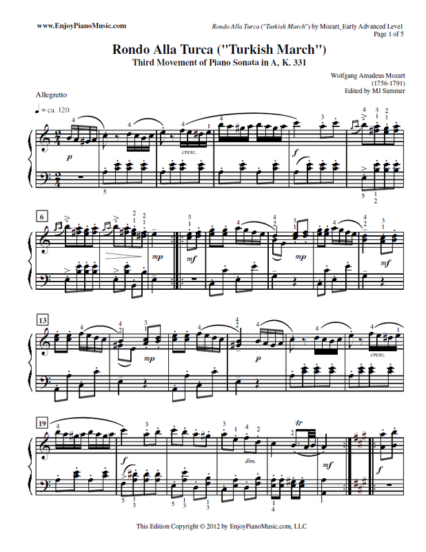Our Edition Retains The Notes The Key Signature And The Time Signature Of The Original Piece Written By Mozart Piano Sheet Piano Sheet Music Classical Piano