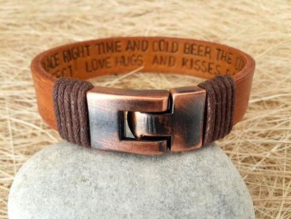 EXPRESS SHIPPING,Men's Leather Bracelet, Anniversary Graduation Gift for Him,Valentines Gift , Handmade Bracelet #sportswatches