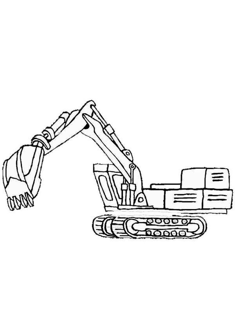 Free Printable Excavator Coloring Pages Excavators Are Heavy Equipment Consisting Of Arms Booms Coloring Pages Coloring Pages To Print Truck Coloring Pages