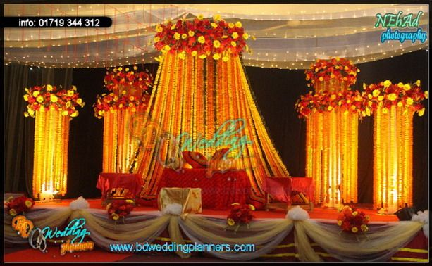 Holud Stage Decor Bd Event Management Wedding Planners Wedding