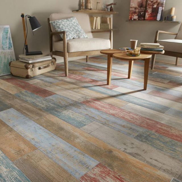 Vives Faro Color Wooden Look Tile Collection Multi Color