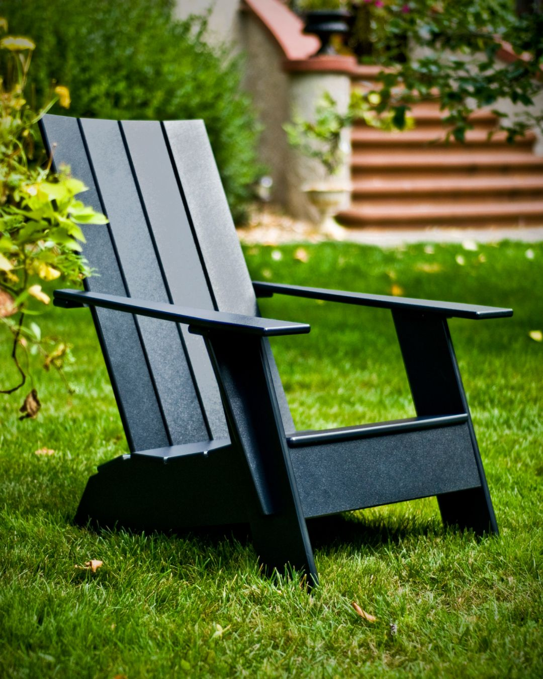 Loll Designs Adirondack Chair In Black In 2020 Outdoor Chairs