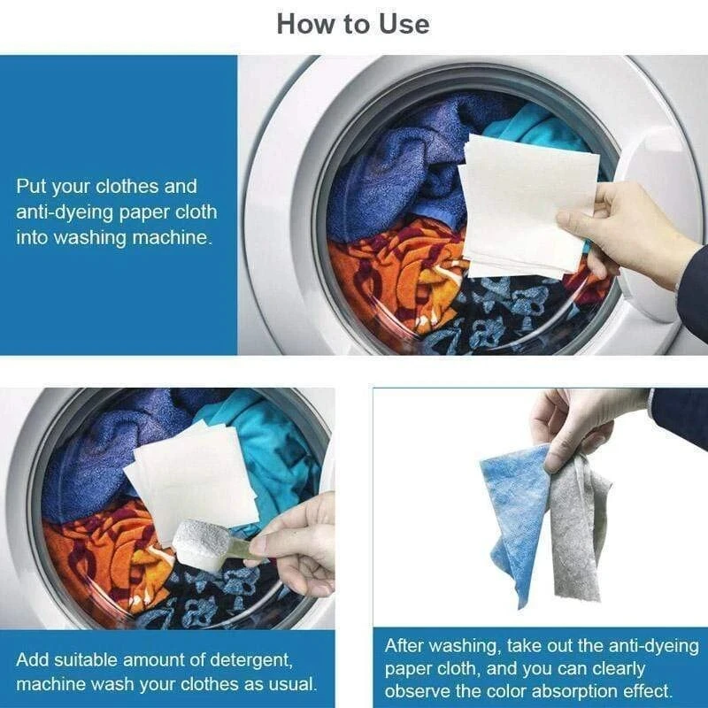 24pcs Washing Machine Use Mixed Dyeing Proof Color Absorption Sheet Anti Dyed