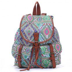 National Style Women's Satchel With Printed and Buckle Design ...