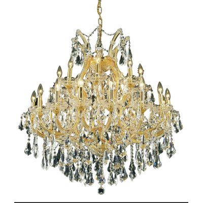Maria theresa 24 light crystal chandelier finish crystal color maria theresa 24 light crystal chandelier finish crystal color crystal trim gold aloadofball Images