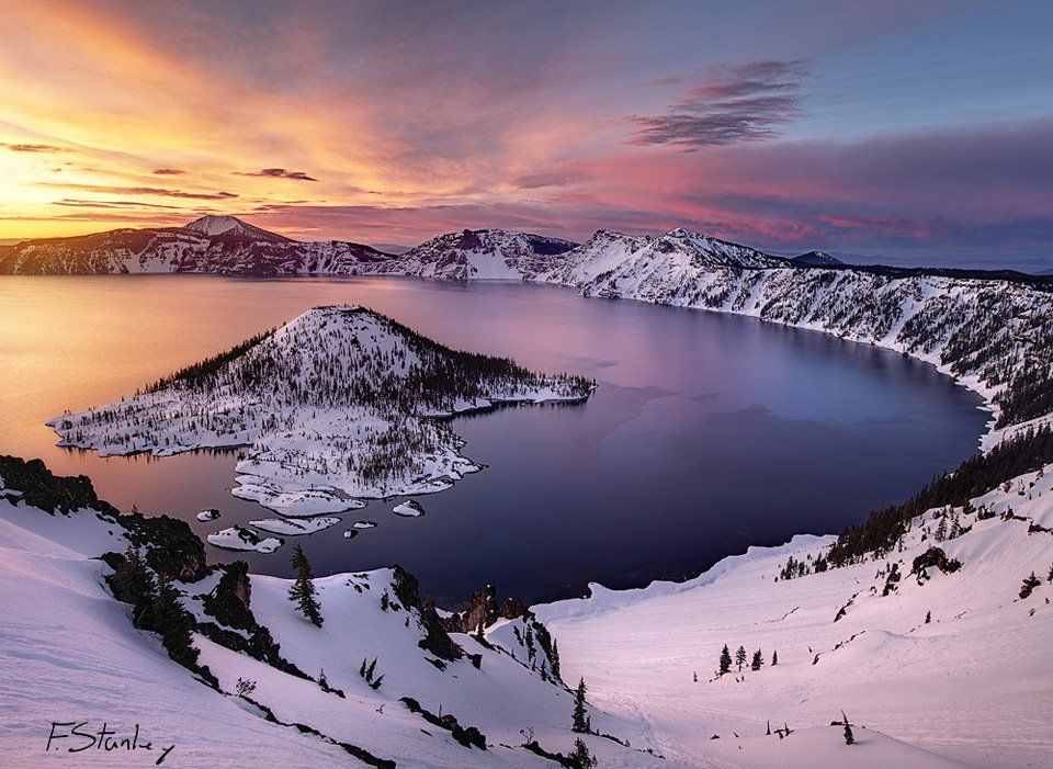 Piclogy: Crater Lake In Winter Oregon   Photography By Forrest Stanley https://t.co/SvMJmpIEQI https://t.co/goAPrWXKqy #OurCam #Photogr #OurCam #Photography
