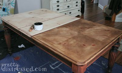 Charmant Annie Sloan Dark Wax On Raw Wood As A Stain And Protectant In One