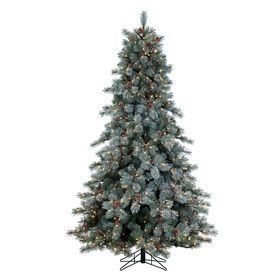 7 5 Ft Pre Lit Pearson Flocked Pine Christmas Tree With 800 Clear
