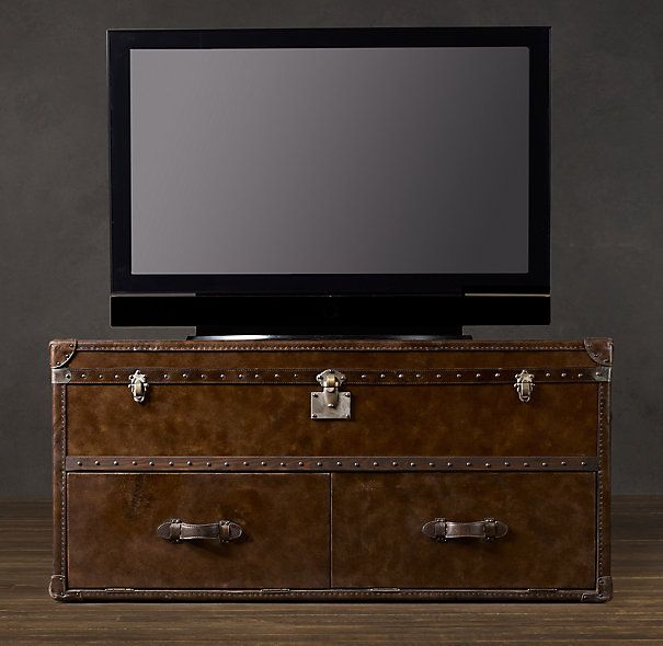 Hillside Coffee Table Trunk: Steamer Trunk As Media Stand And/or Coffee Table.