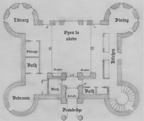 20 Unique Castle House Plans With Towers In 2020 Castle House Plans Castle Plans Castle Floor Plan