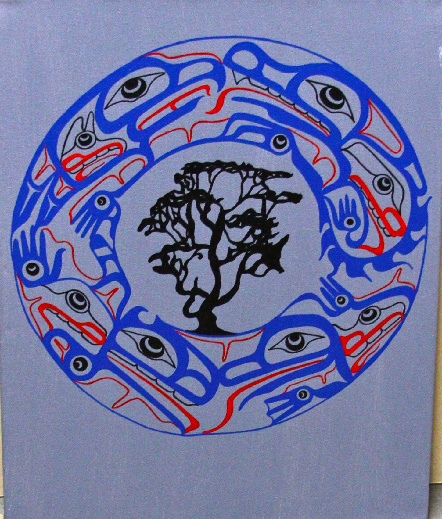 Arbutus Law Group Logo Original Painting Acrylic Canvas