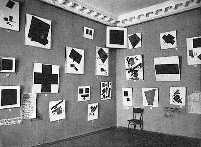"Malevich's Suprematist Section, ""0:10. Last Futurist Exhibition"", 1915 (Saint Petersburg-Petrograd)"