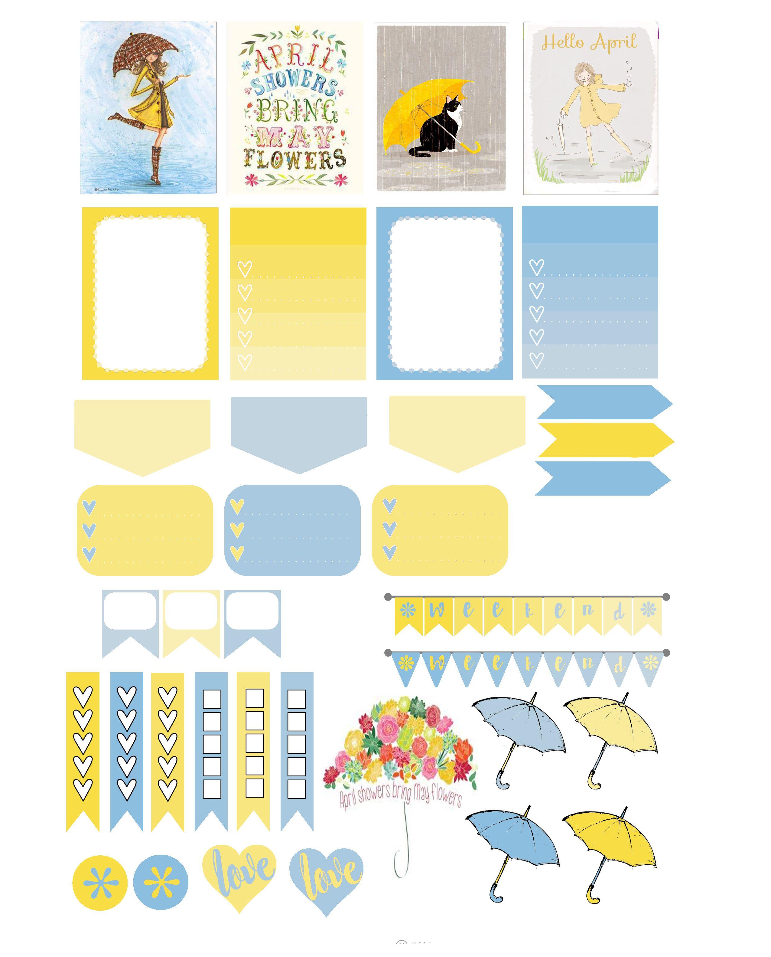 adult april showers | planner | Pinterest | Sticker, Filofax und ...