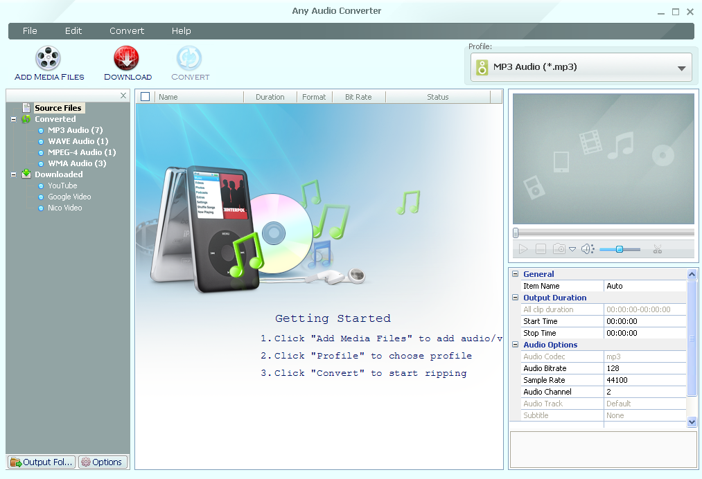 free any audio to mp3 converter download