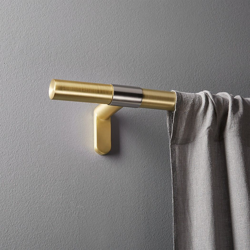 Seamless Brass With Nickel Band Curtain Rod Set 28 48 X1 Dia In