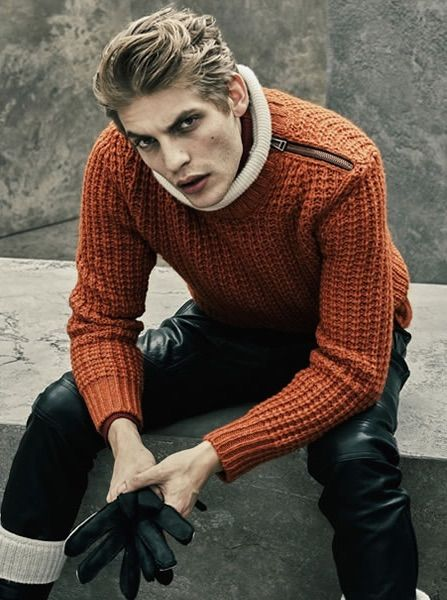 Belstaff Autumn/Winter 2015 | Men's Fashion | Menswear | Men' Sweater/Knitwear | Men's Casual Outfit for Winter | Moda Masculina | Shop at designerclothingfans.com