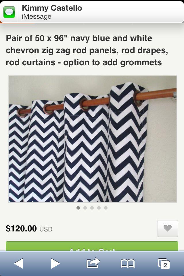 Navy chevron curtains