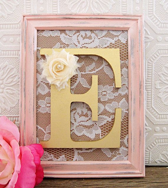 Gold Decorative Nursery Letters Baby Girl By