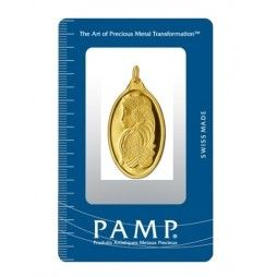 10 Gram Fortuna Oval Shaped Pamp Suisse Gold Pendant Bullion Gold Bullion Bars Gold Bullion