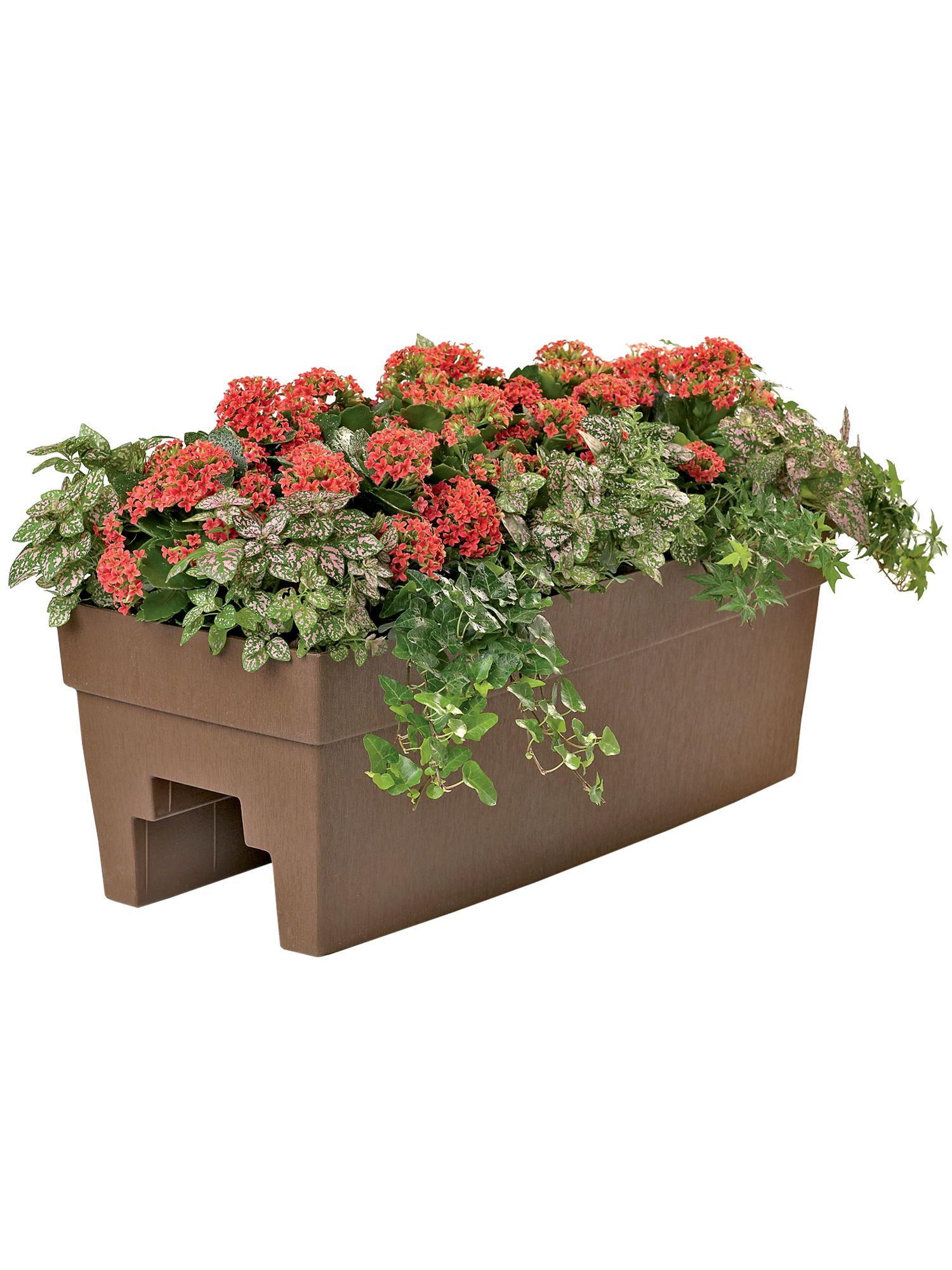 Deck Planter For 2x4 Or 2x6 Railings Gardener S Supply