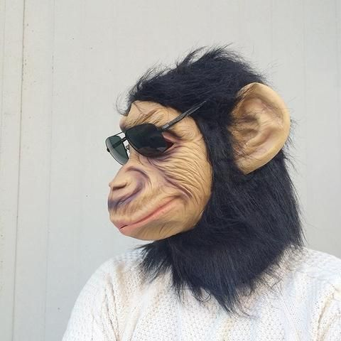 King Kong gorilla Mask Head Halloween / Christmas Costume Theater Prop Latex Monkey King scary Mask & King Kong gorilla Mask Head Halloween / Christmas Costume Theater ...