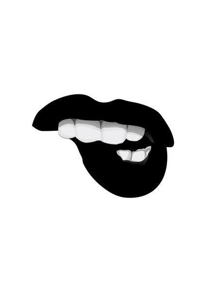 Lip Bites Are Attractive Tumblr Transparents And Layovers Lip Wallpaper Art Wallpaper