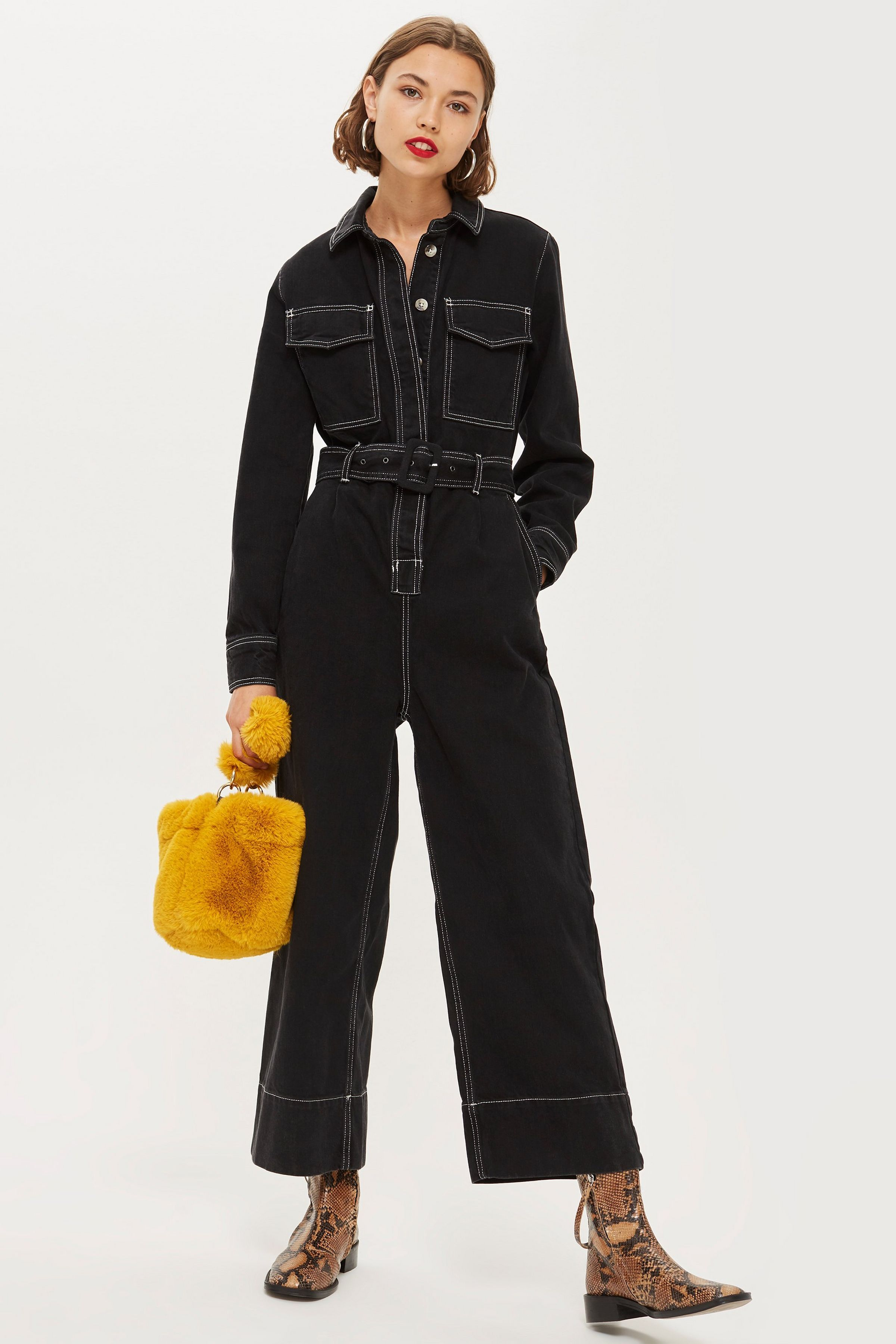 8fa3fa80e7a Contrast Denim Boiler Suit in 2019