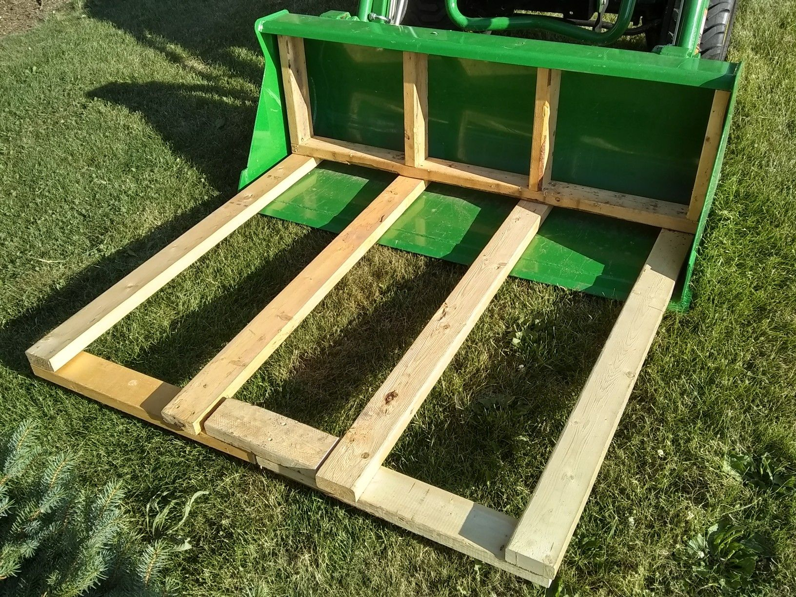 Diy Brush Forks For Front End Loader Built This To Make It Easier To Haul More Tree Tractor Accessories Compact Tractor Attachments Garden Tractor Attachments