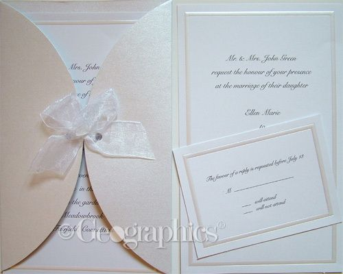 Pearl Essence Crescent Gatefold Printable Wedding Invitation Kit
