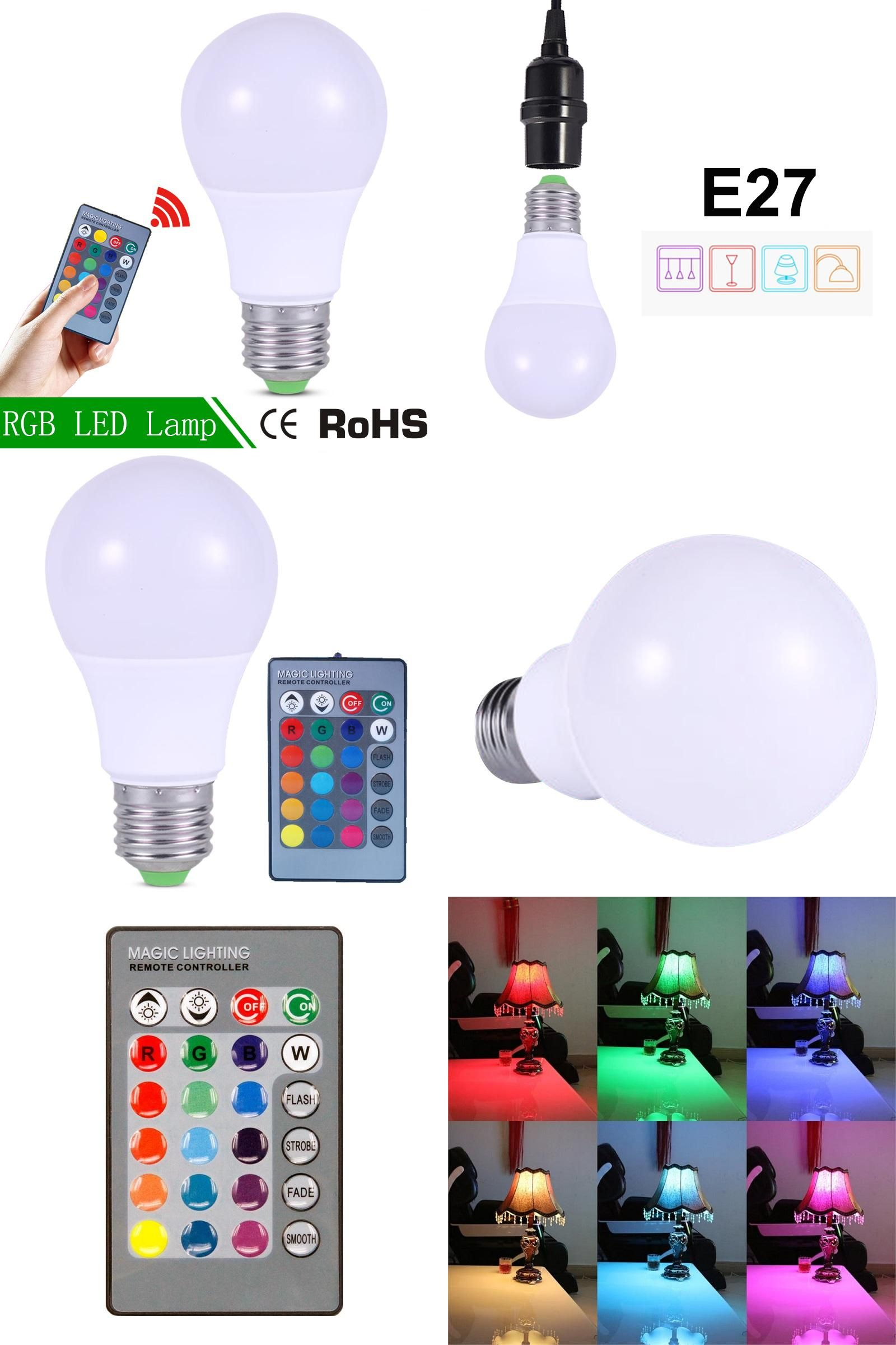 Visit To Buy Rgb Led Lampada 3w Led Lamp 220v Mini High Power Lampada Colorful With Remote Controller E27 Rgbw Led Bulb Rgb Led Lights Led Light Bulb Rgb Led
