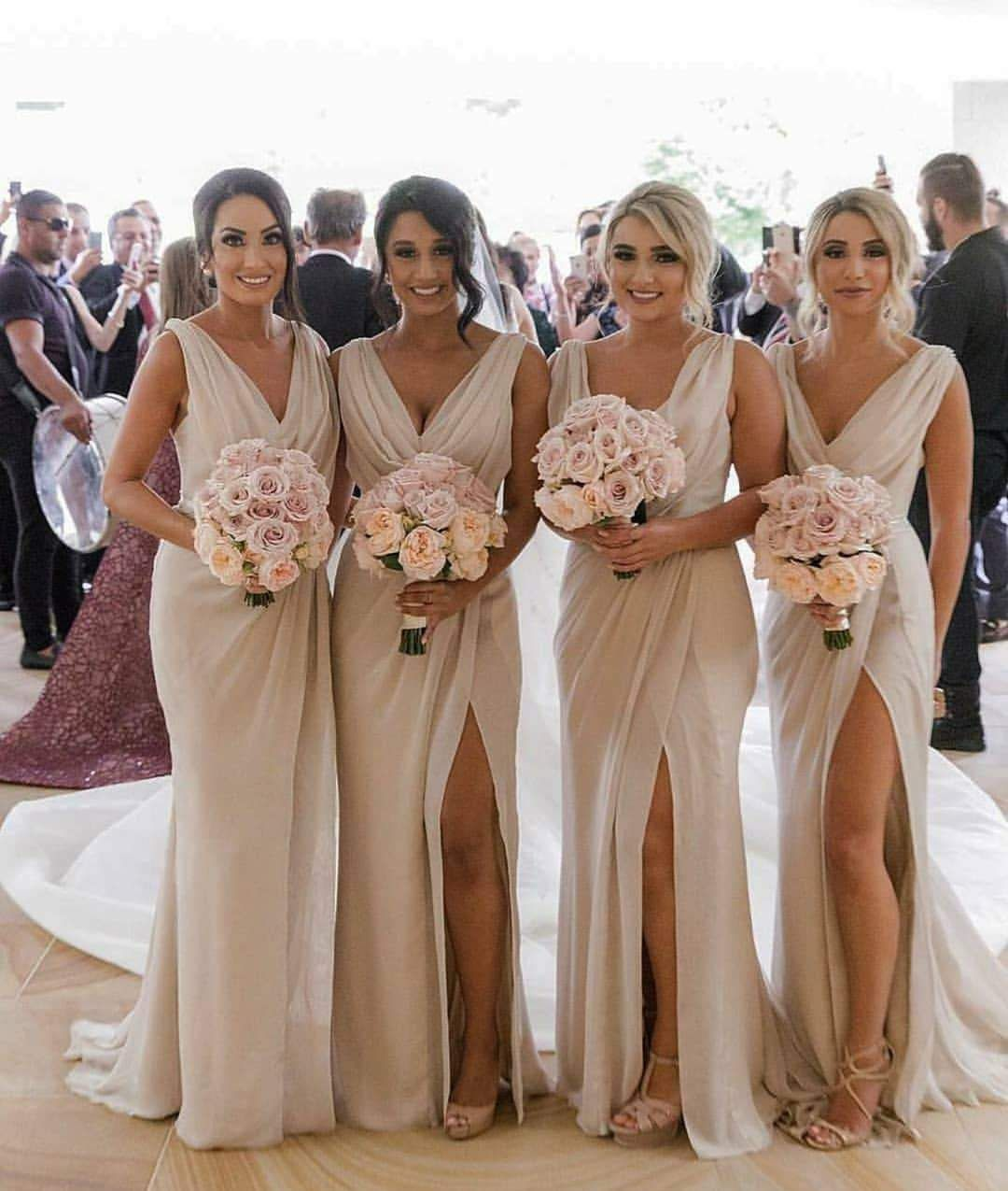 Cheap Brown Dresses Simple Country Bridesmaids