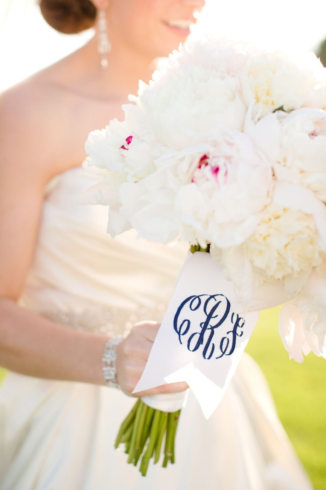 monogrammed peony bouquet. @mckennapruitt you\'ll have this ...