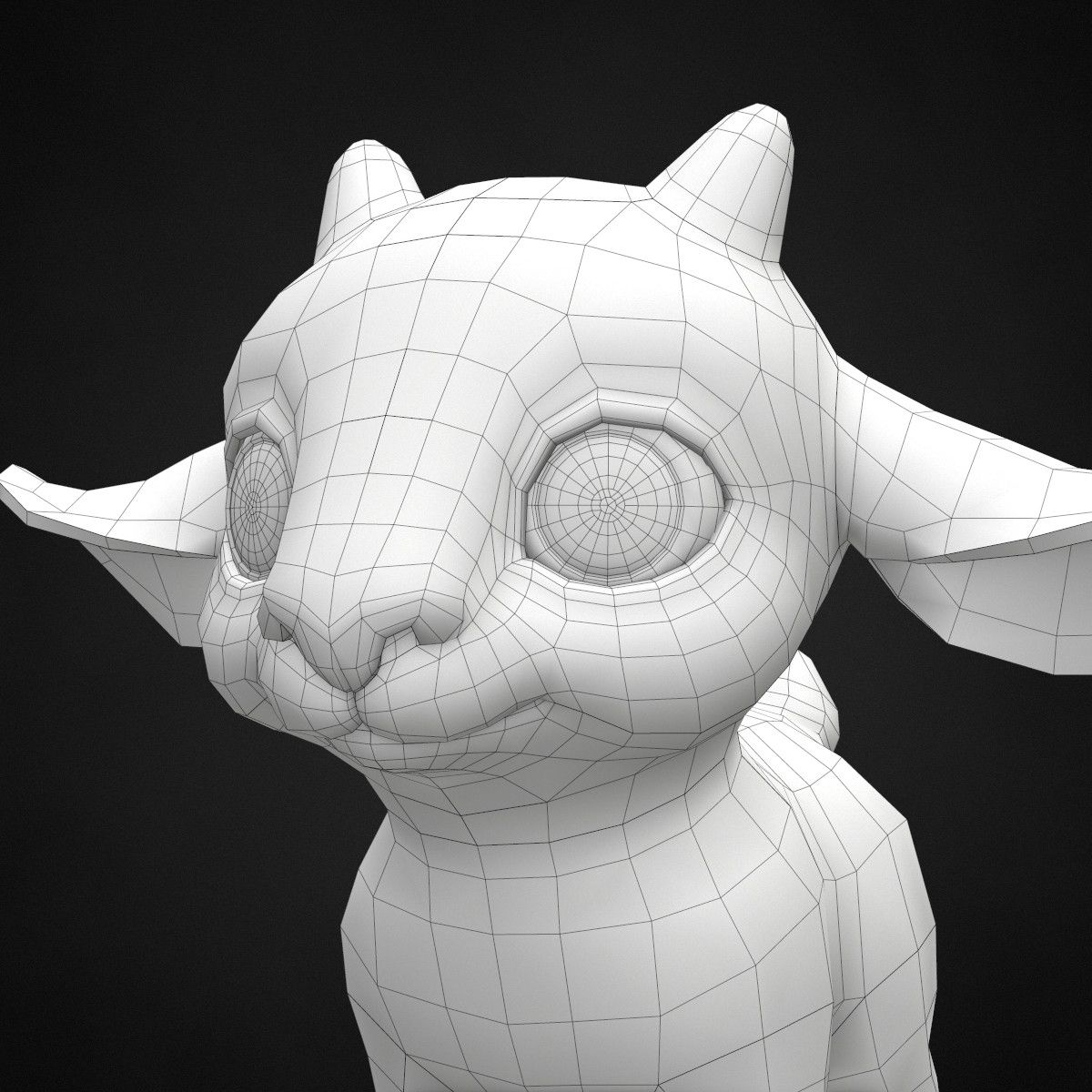 3d cute cartoon goat | 3D Characters | Pinterest | Skulptur