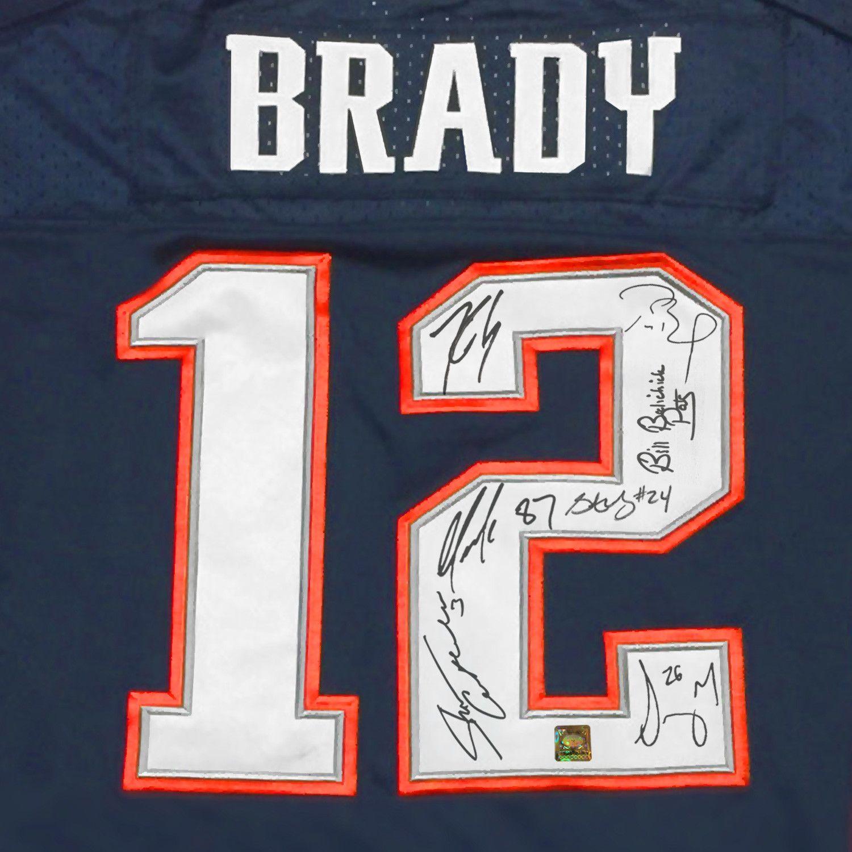 New England Patriots Tom Brady Team Signed Jersey Custom Frame Tom Brady Team New England Patriots Custom Framing