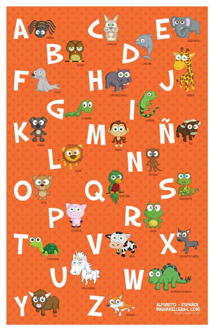Animals In Spanish Letters Alphabet Google Search With Images Spanish Alphabet Alphabet Illustration Spanish Teacher Resources