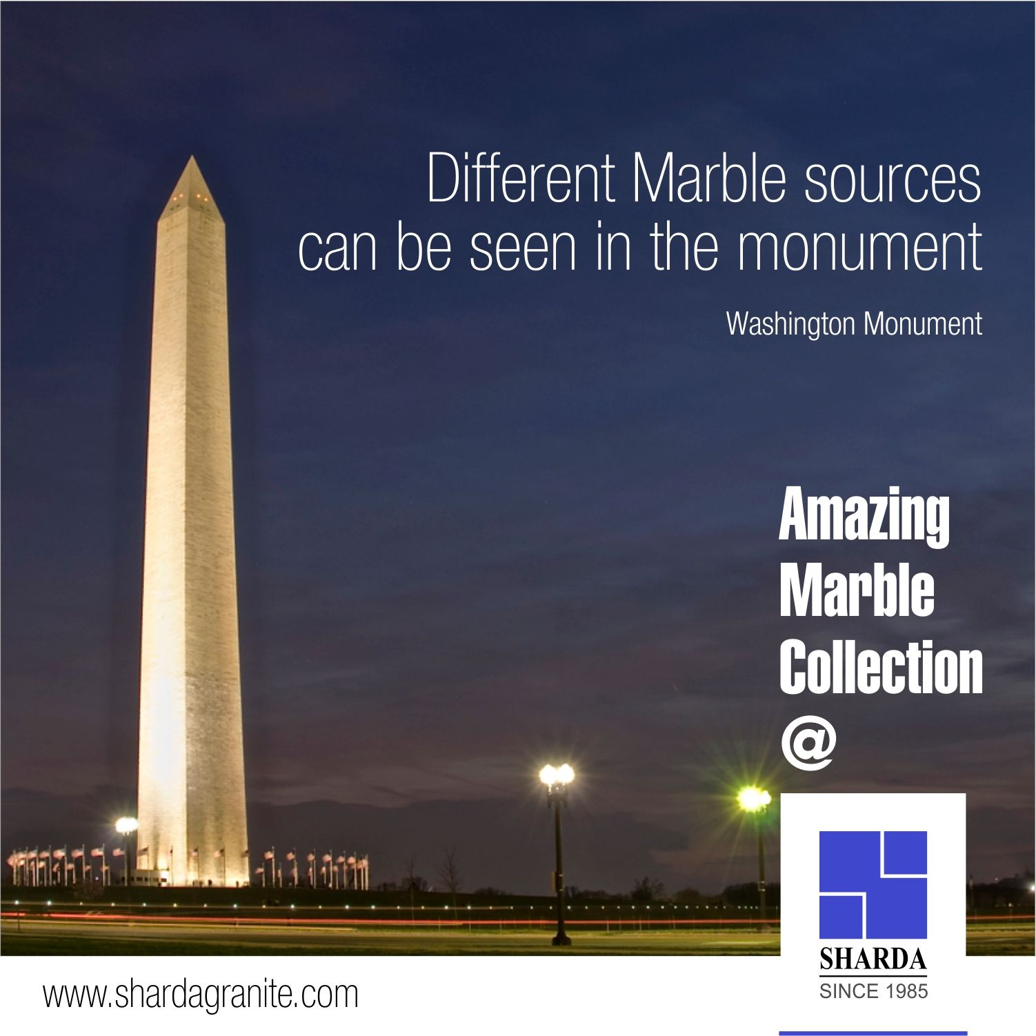Washington marble and granite - Different Marble Sources Can Be Seen In The Monument Washington Monument