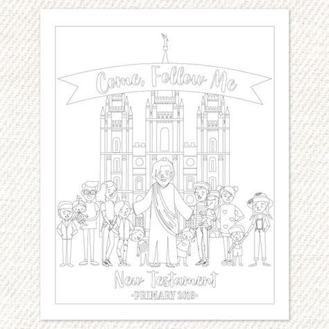 Come Follow Me Coloring Page Quote Coloring Pages Coloring Pages Bible Coloring Pages