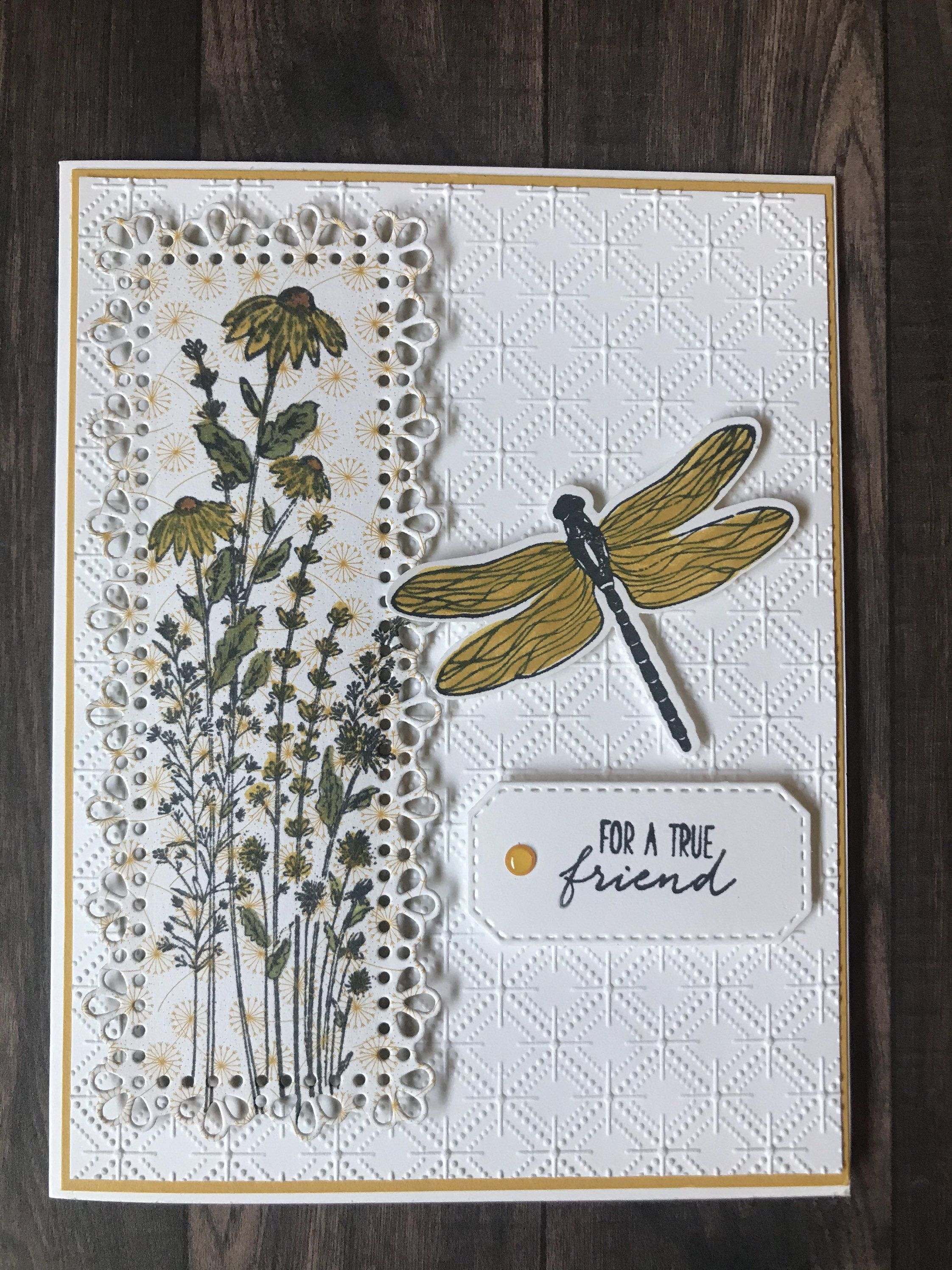 Friendship Card-Dragonfly Card- Stampin Up! Card-
