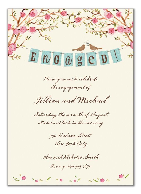 Engagement Party Invite By Bonnie Marcus Collection Engagement Invitations Engagement Banner Engagement Party Invitations