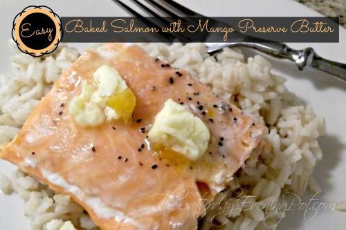 Easy Salmon Recipe loved by BOTH our kids ... Baked Salmon Mango Preserve Butter by Chef John