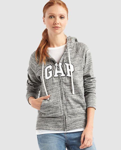 Sudadera de mujer Gap con capucha y cremallera | nuevos