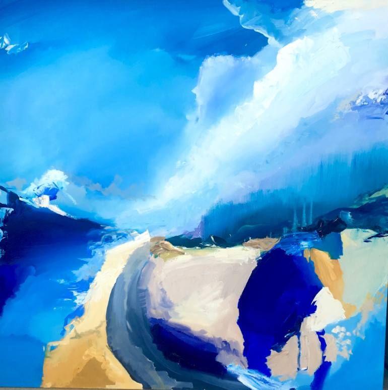 """Saatchi Art Artist Britt Dunbar; Painting, """"Surf Check"""" #art"""